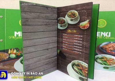 In Menu Nhà Hàng tại Hà Nội, In Menu quán cà phê giá rẻ tại Hà Nội