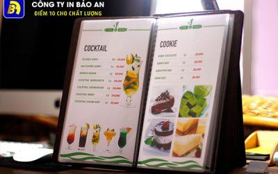 Dịch vụ in menu nhà hàng tại Hà Nội