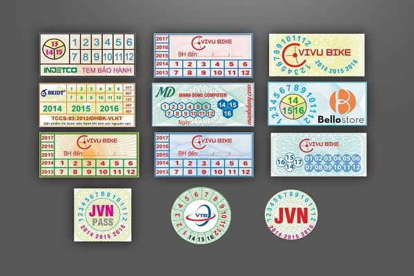 In decan giấy, in tem bảo hành ở đâu tại Hà Nội