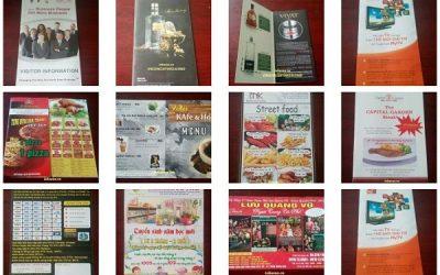 In tờ rơi, tờ gấp giá rẻ tại Hà Nội